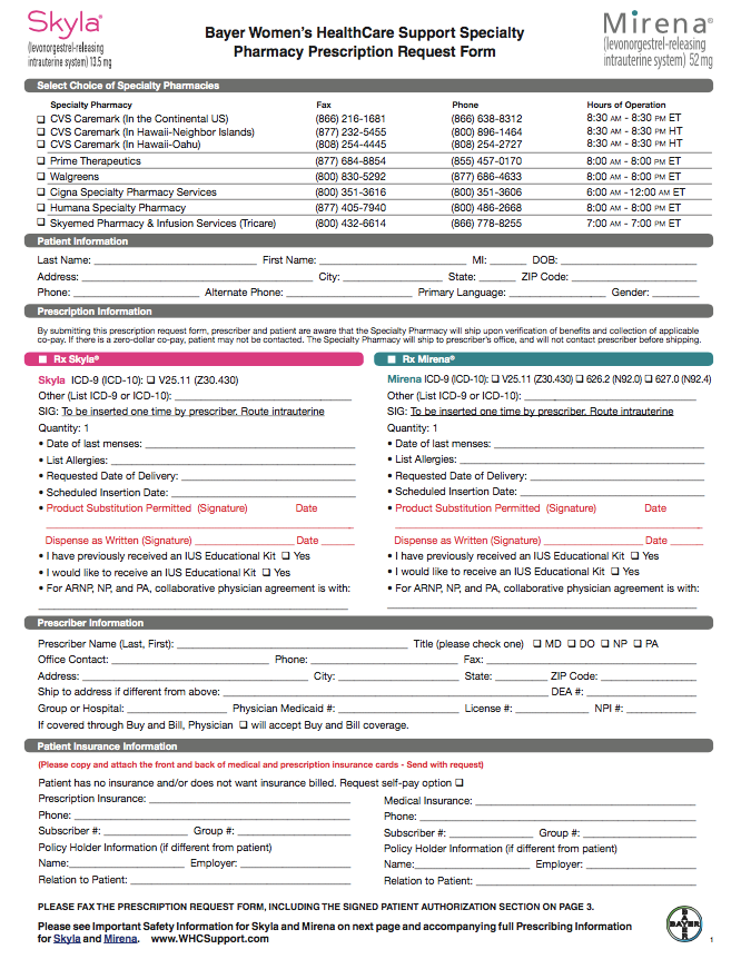 Doctor Prescription for Specialty Pharmacies