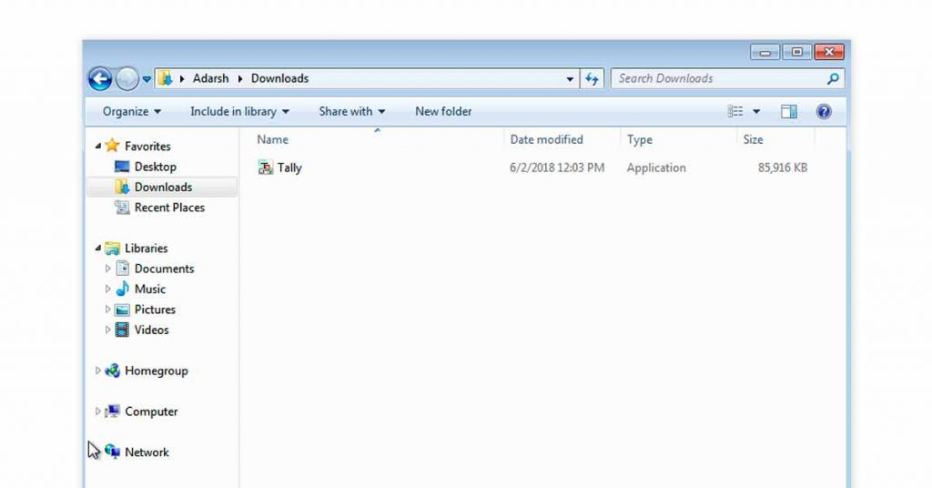 Download Tally ERP 9 - Step 2