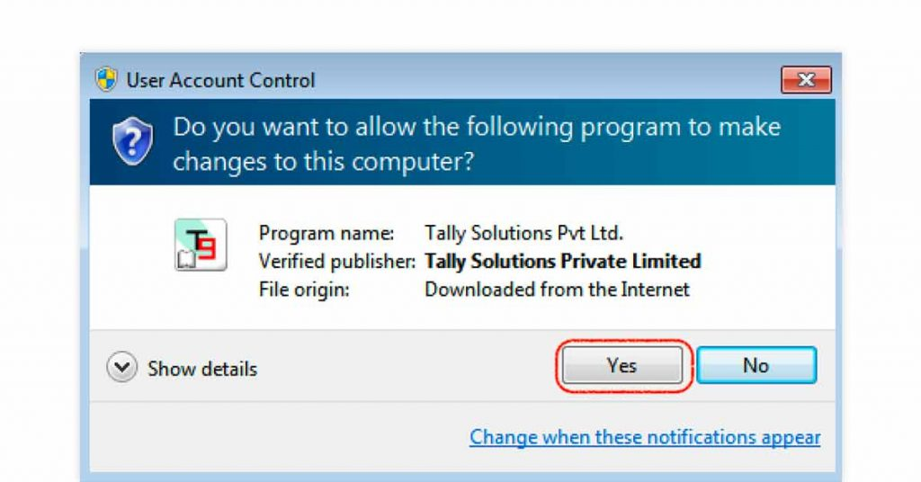Download Tally ERP 9 - Step 3