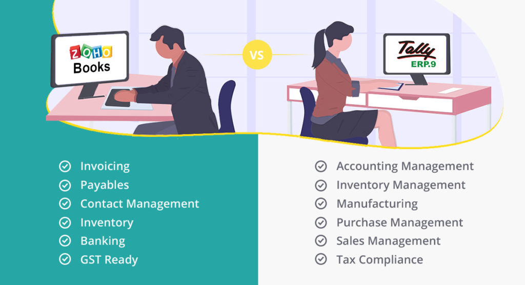 Zoho Books VS Tally VS Quick Books - Top Accounting Software