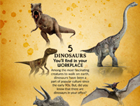 5 Dinosaurs You'll find in your Workplace-Infographics 101