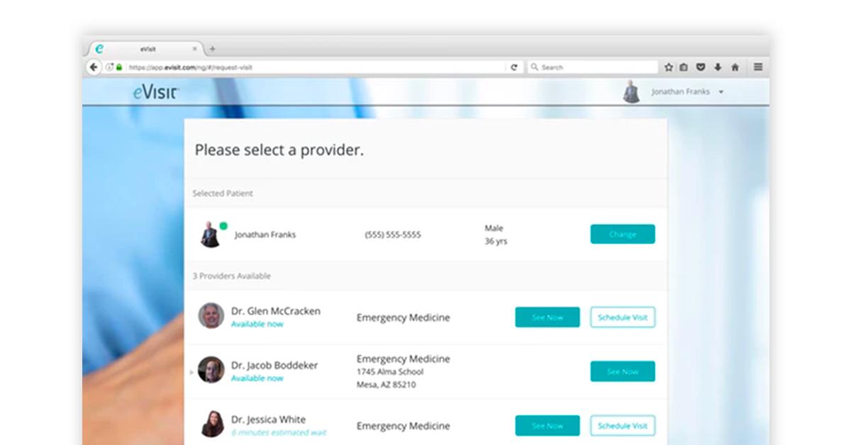 eVisit hospital management solution Image