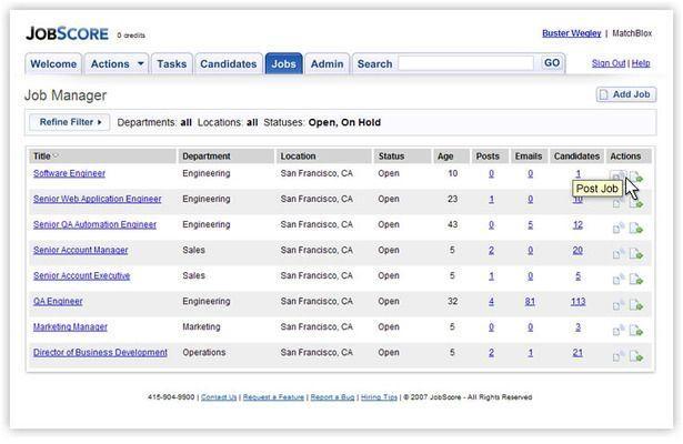 JobScore free software