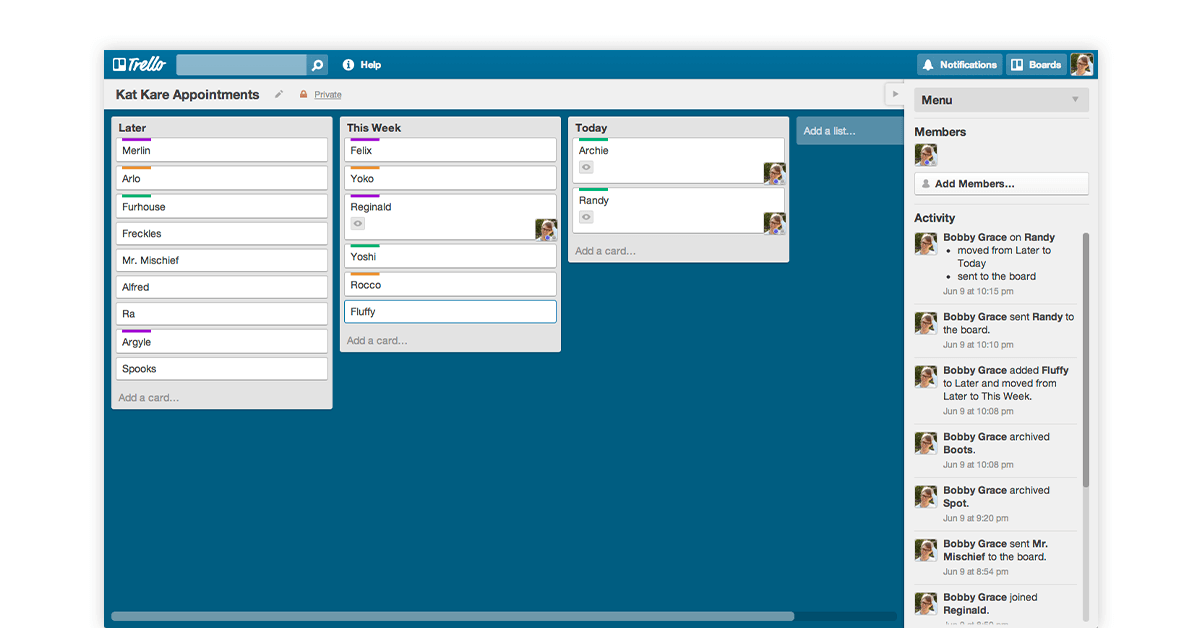Project tracking software