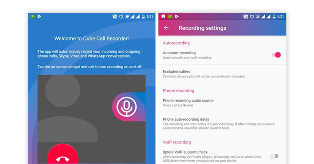 Cube Call Recorder ACR app Image