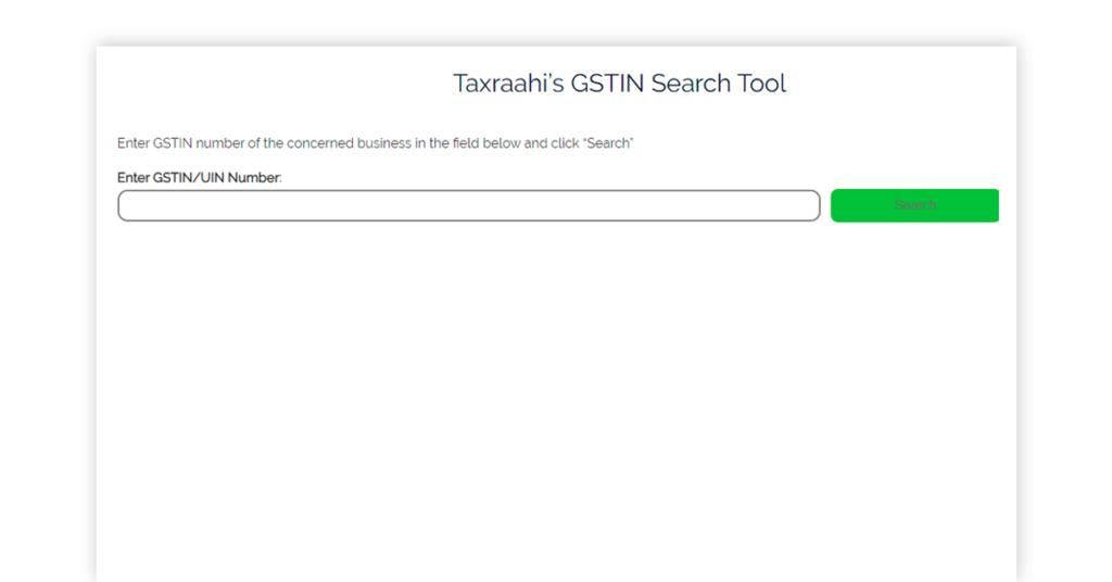 Taxraahi GSTIN Image
