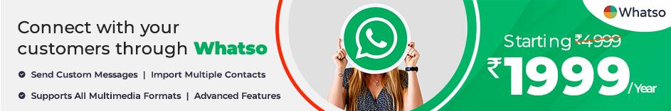 Whatso WhatsApp Marketing Software Sale