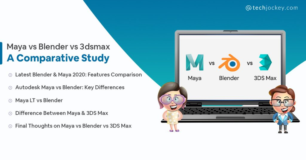 autodesk maya vs blender vs 3DS Max