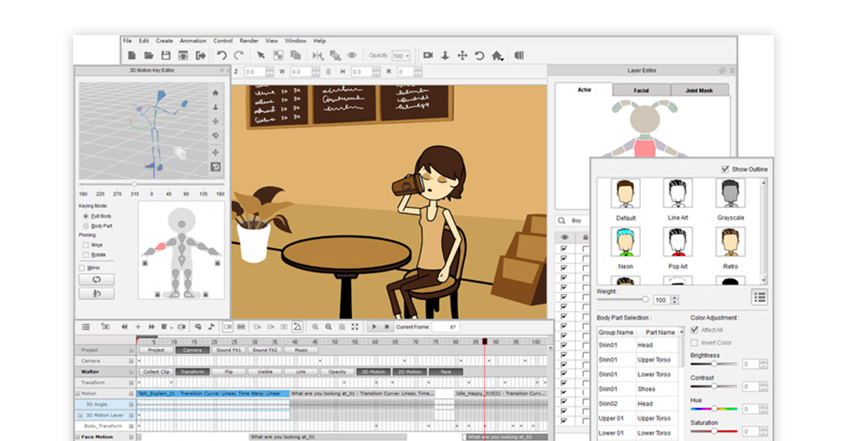 2D animation software for android