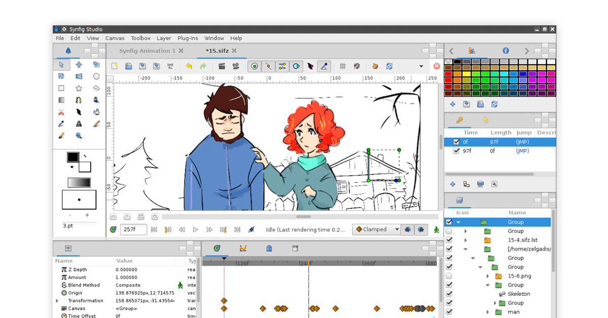 2D animation software open source