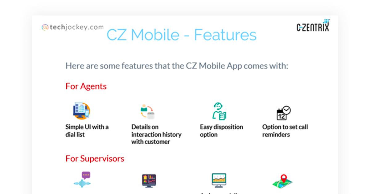 C-Zentrix Mobile App