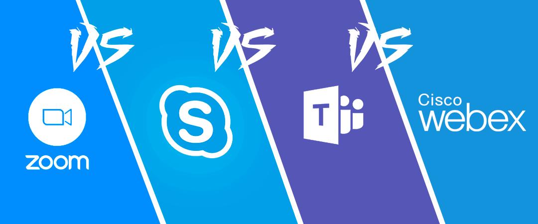 Zoom vs Skype vs Teams vs Webex