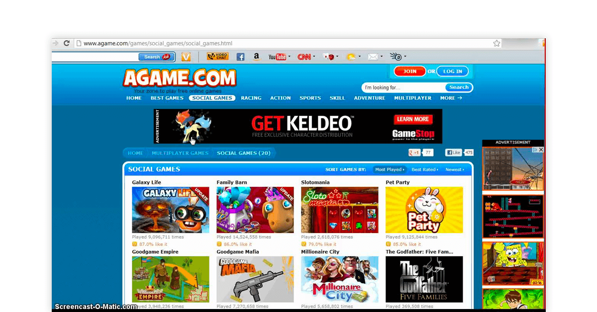 Online gaming sites
