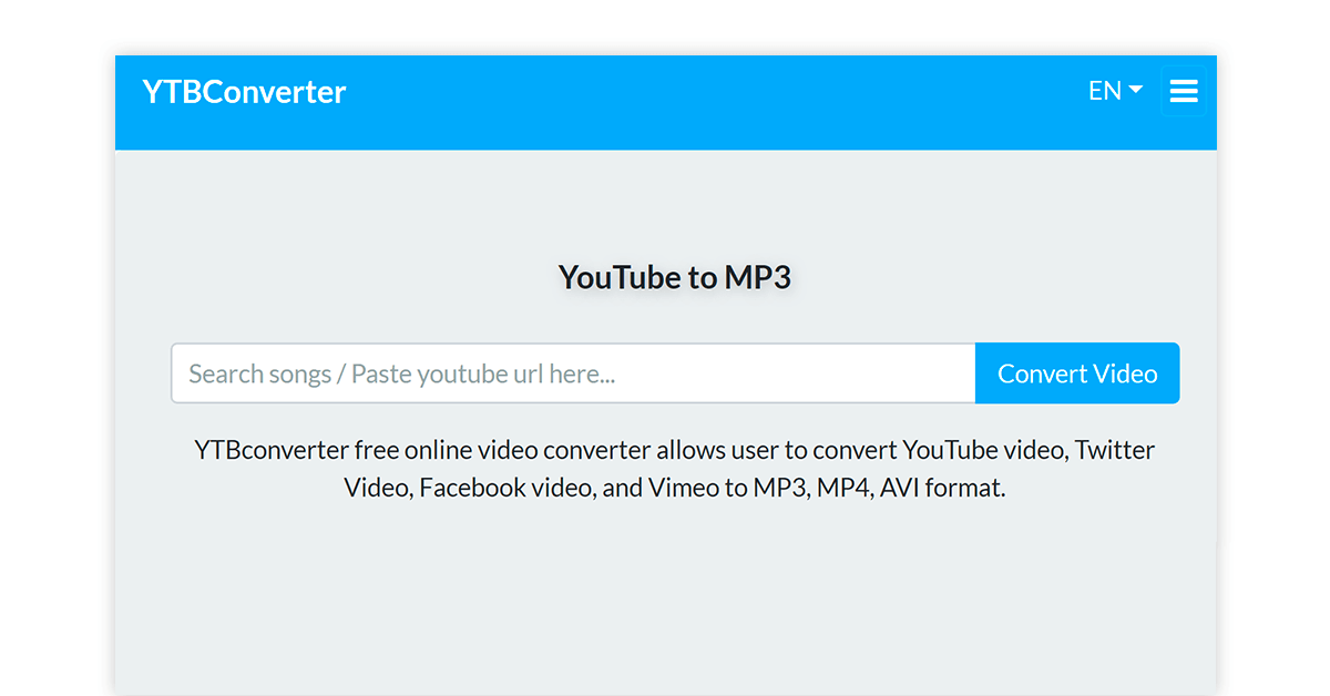 YouTube to mp3 converter software for windows 10