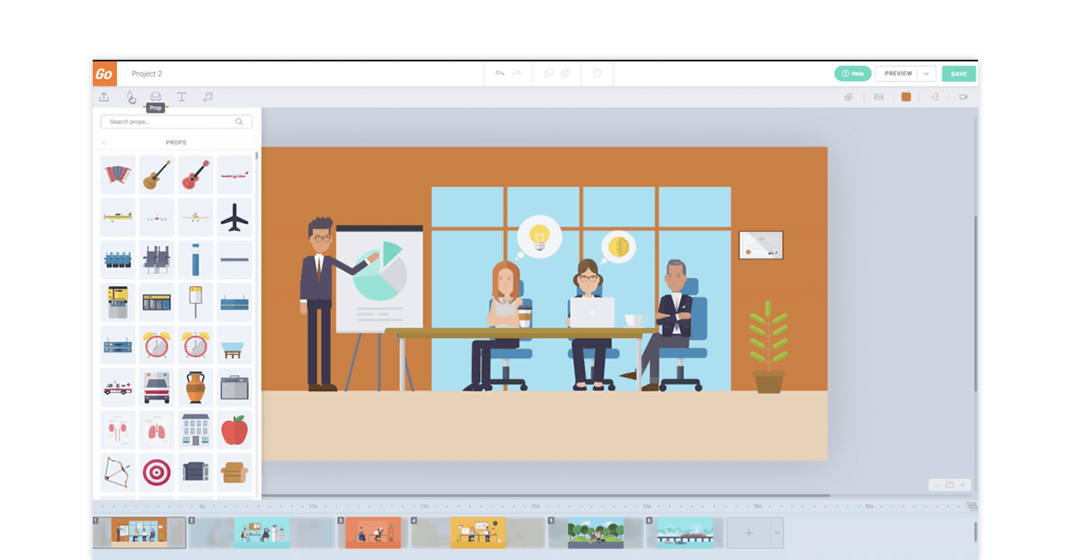 Vyond whiteboard animation software