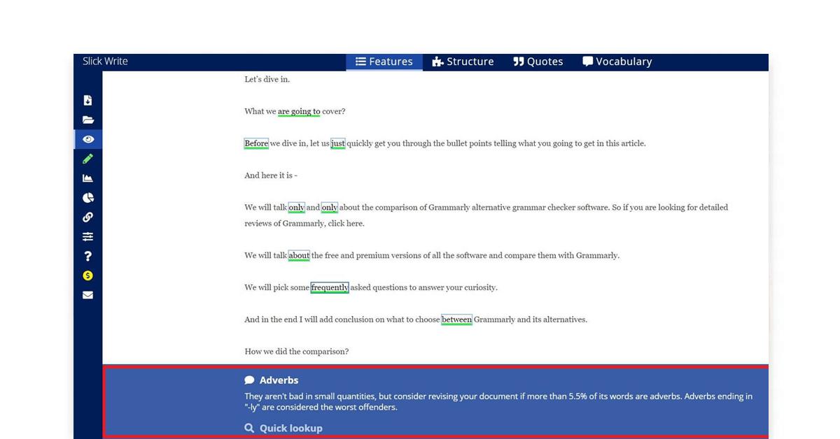 Grammar checker app