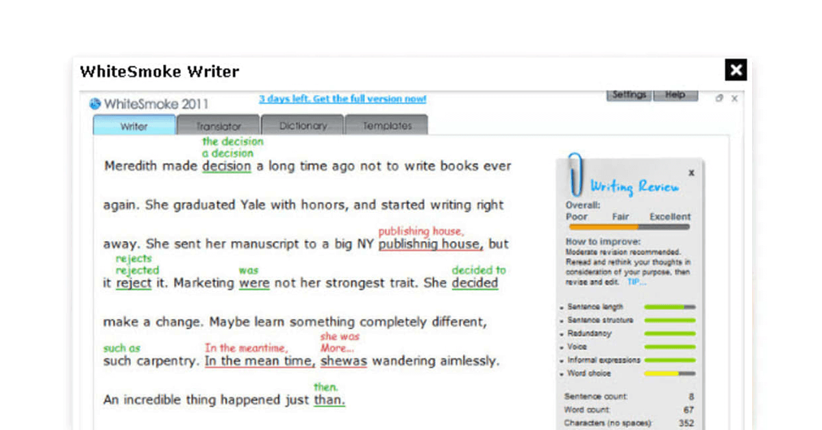 English grammar check app