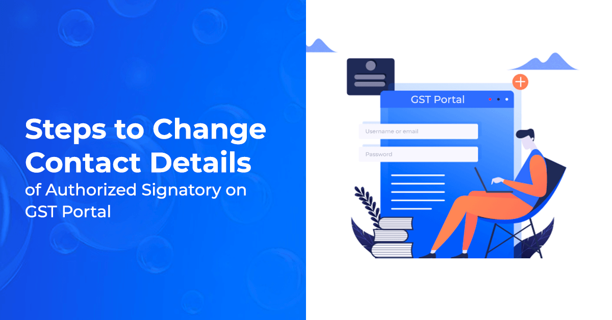 How to change contact details in GST