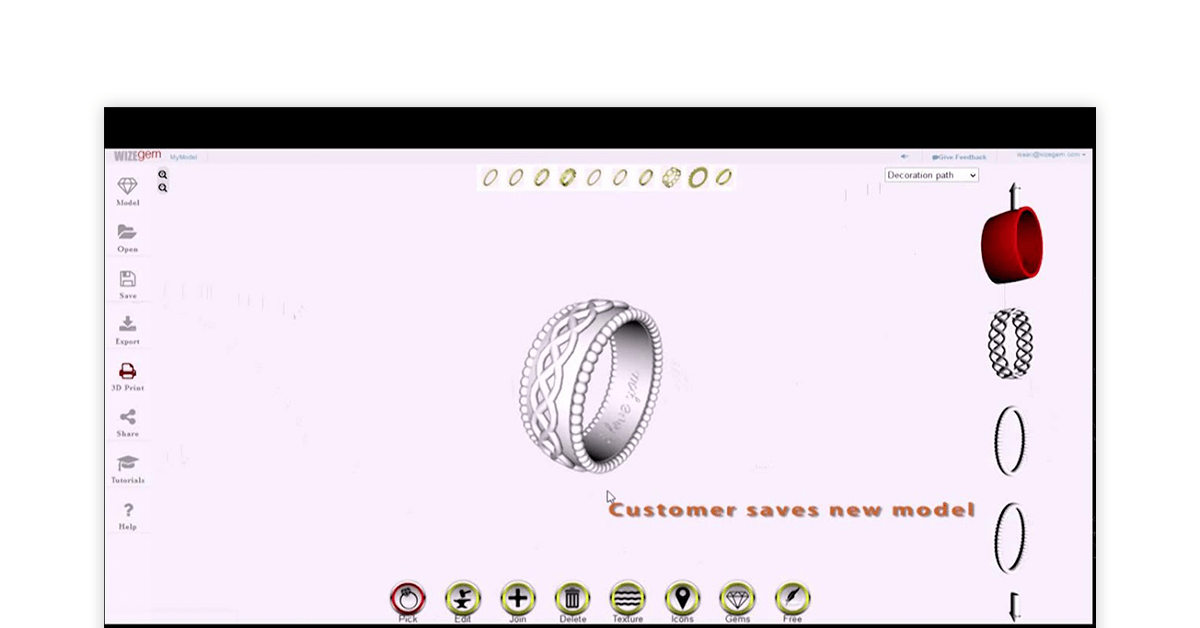 Jewelry manufacturing software