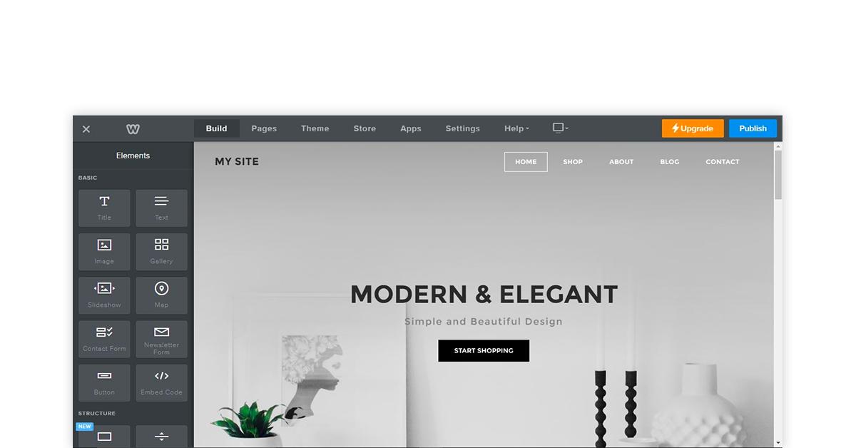 Weebly online store builder