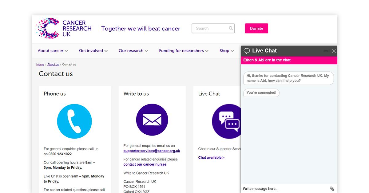 Live chat web