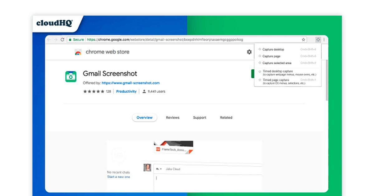 Chrome screenshot addon