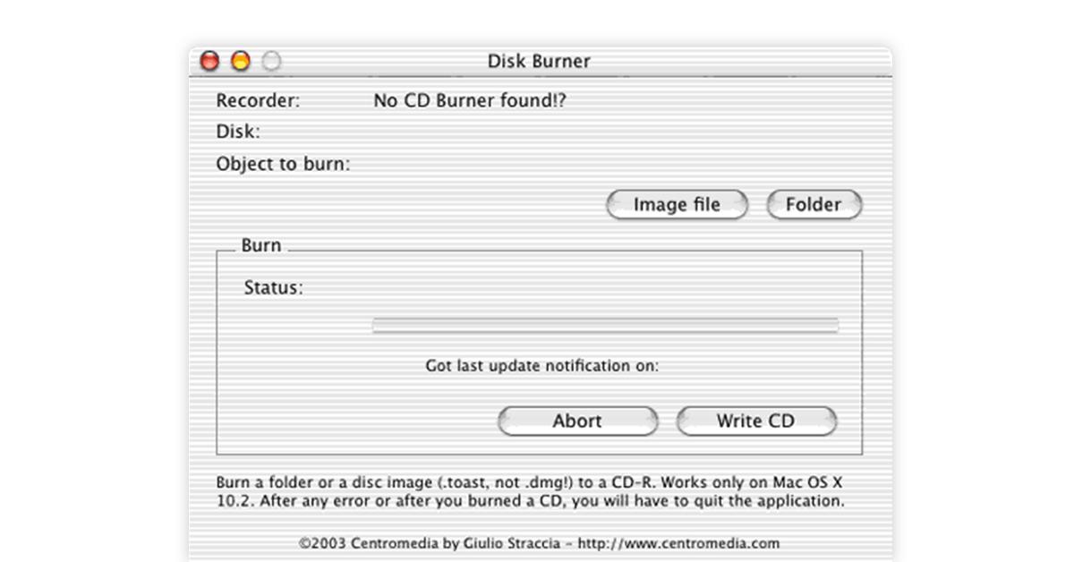 disk burner