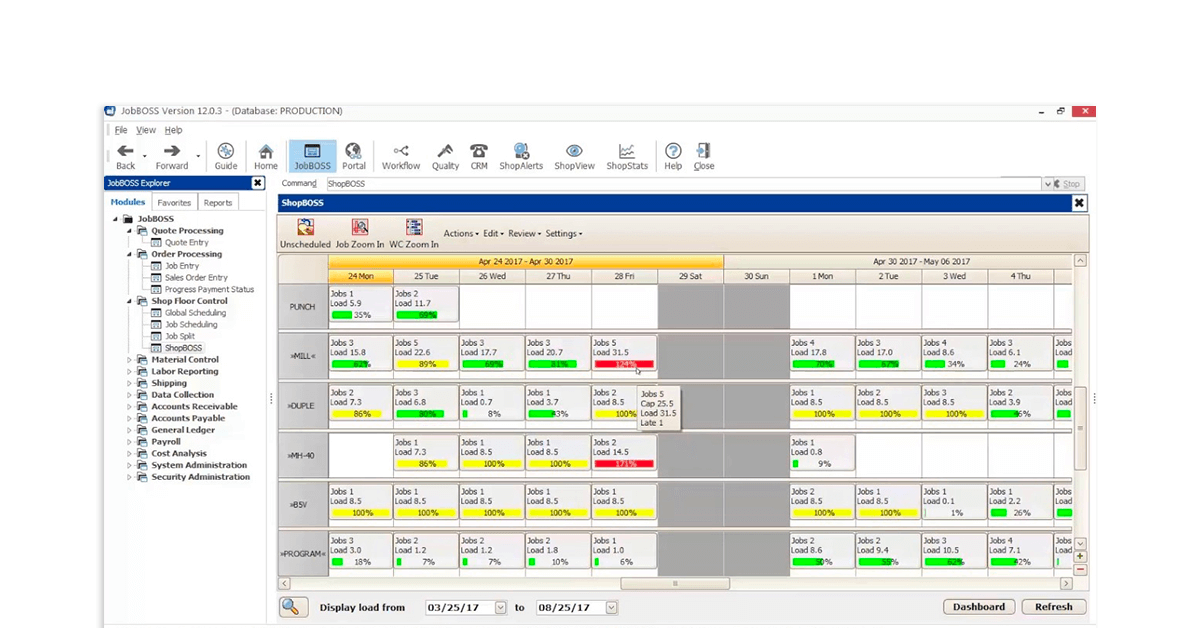 erp software for manufacturing industry - JobBOSS