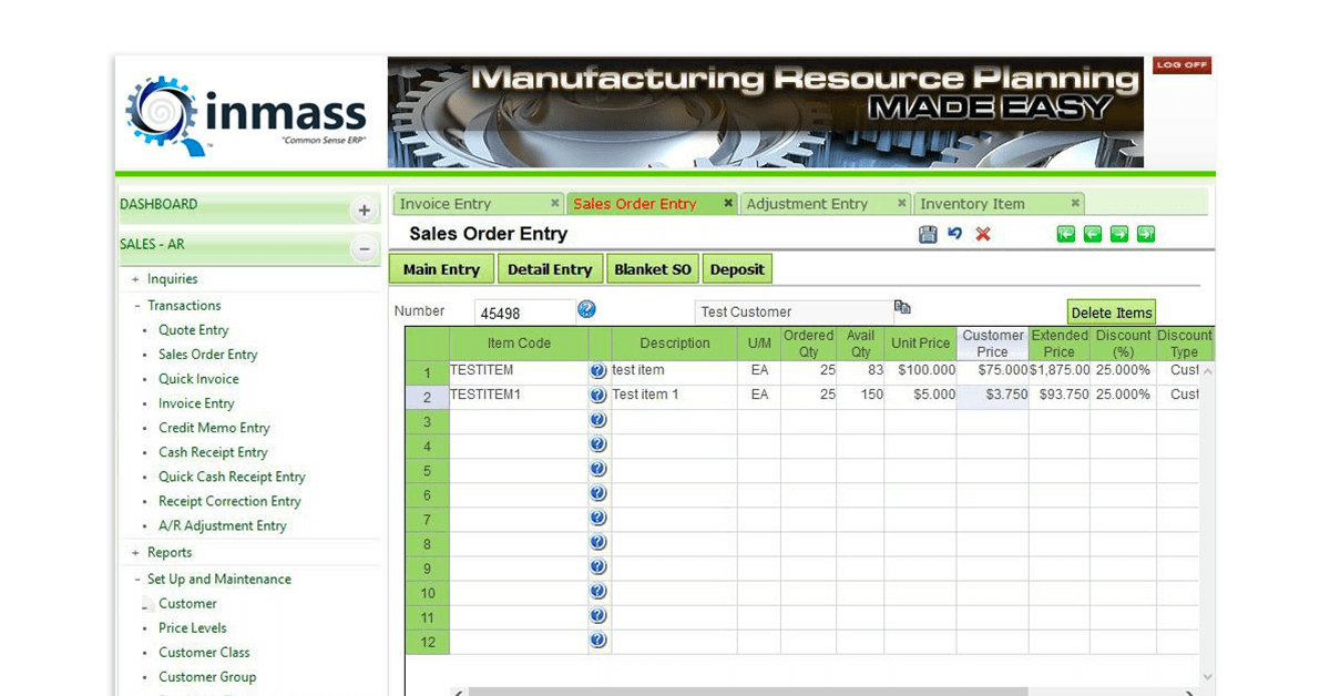 manufacturing software small business - inmas