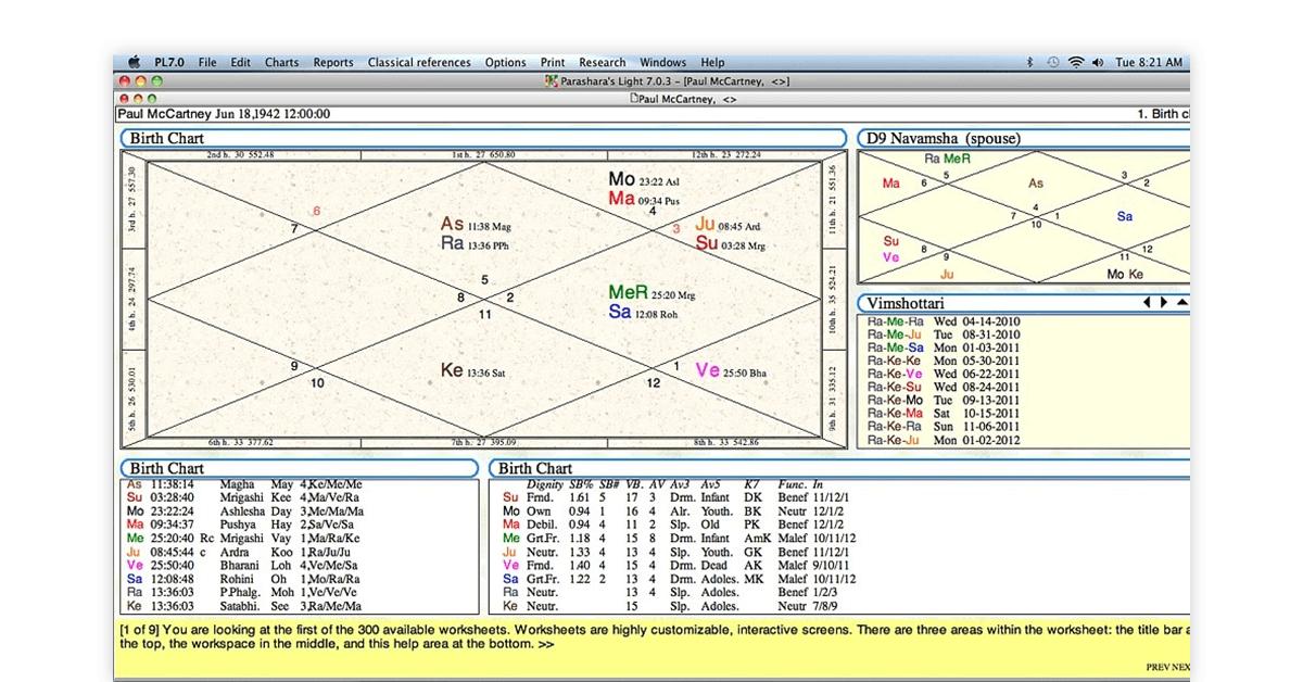 parashara software