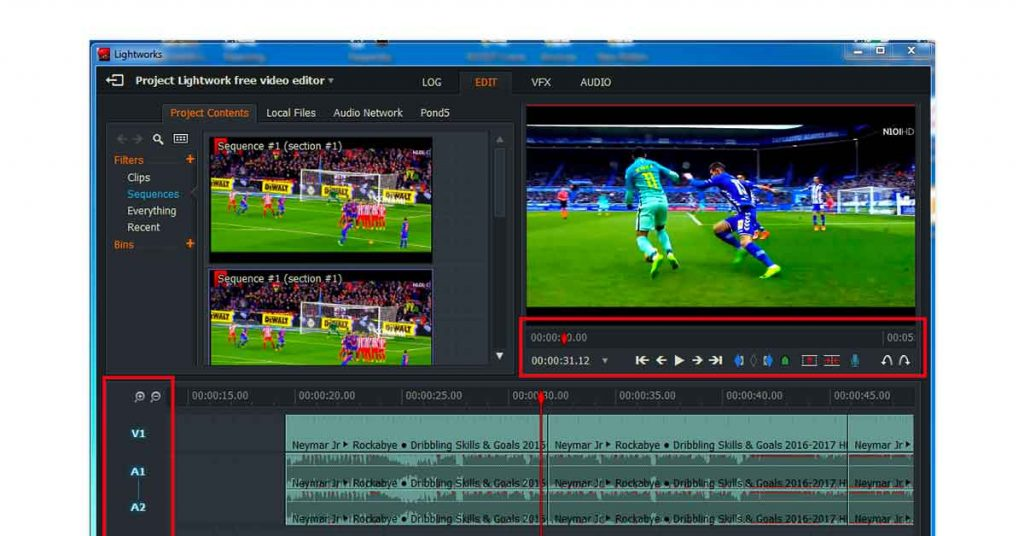 Lightworks YouTube video editing software
