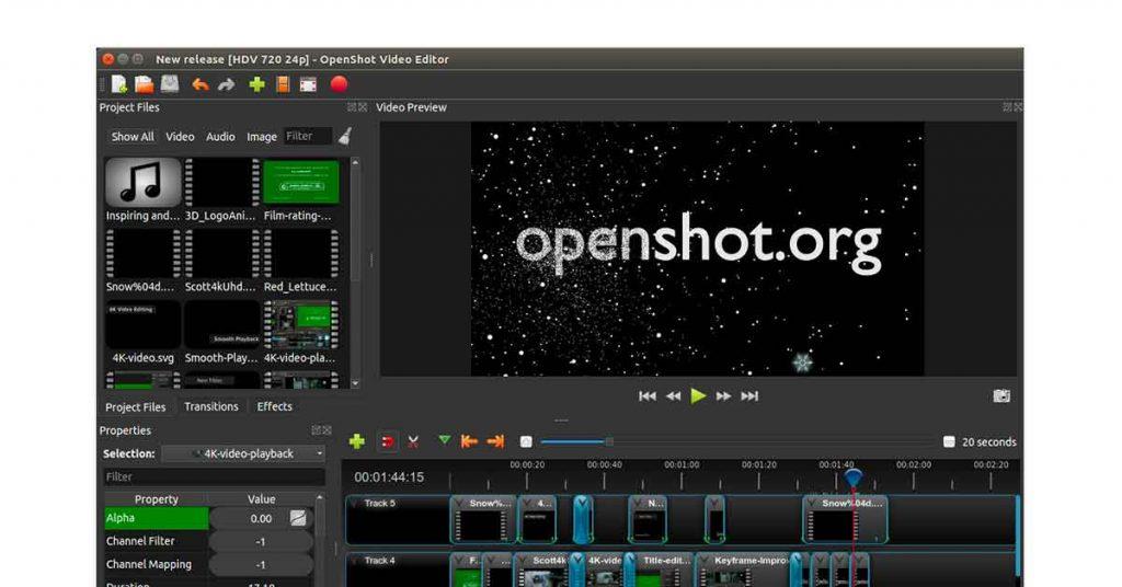 OpenShot YouTube editing software