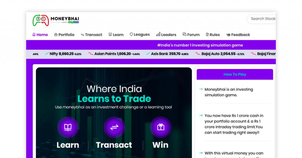 mock trading app - moneybhai