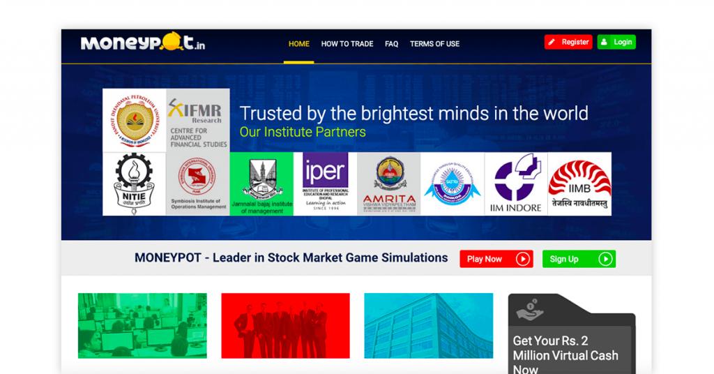 stock trainer app - moneypot