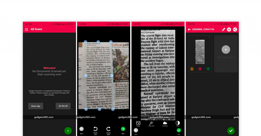 Indian document scanner app