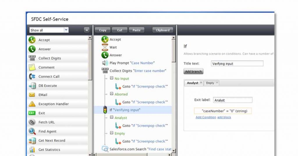 Call profile manager tool