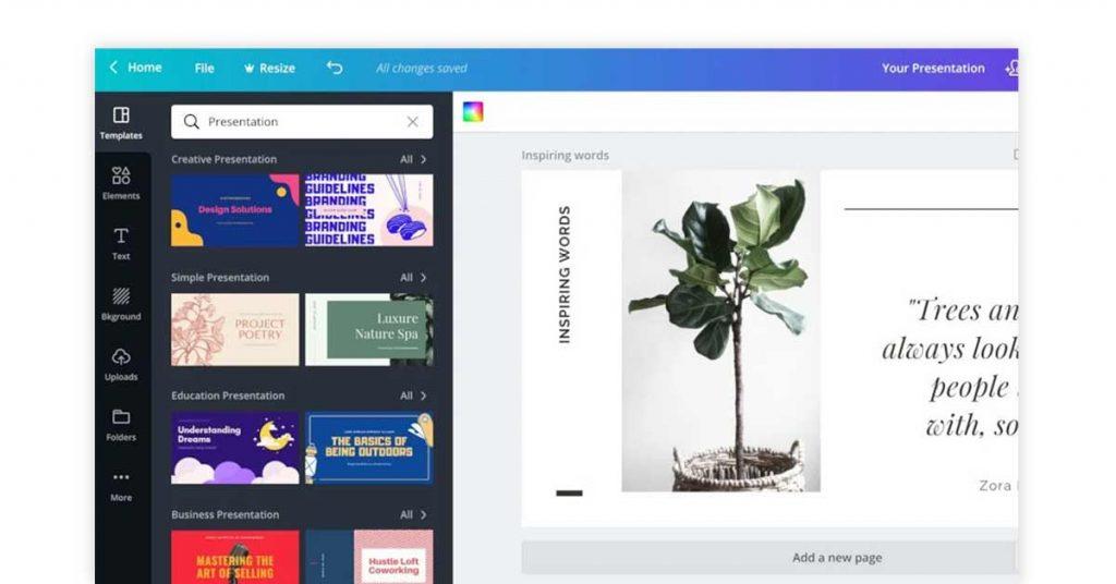 Canva free flowchart software online