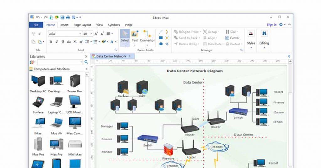 free process flow diagram software - Visio
