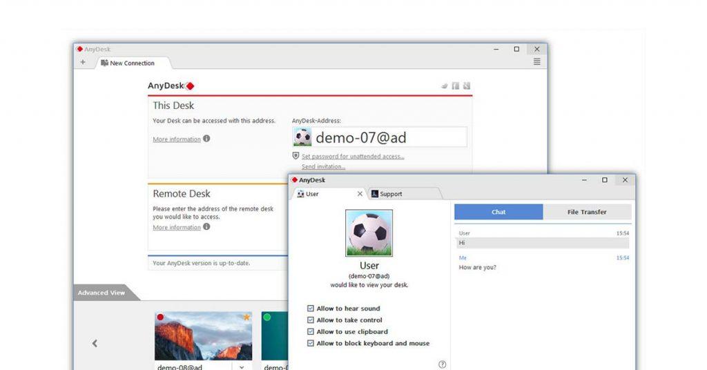 Anydesk remote desktop software solution