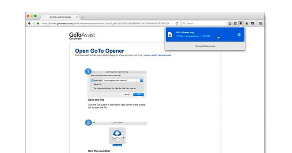 Gotoassist remote desktop software