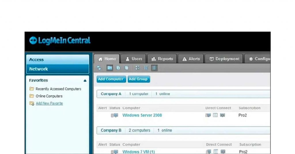 LogMeIn Central Remote Support Software