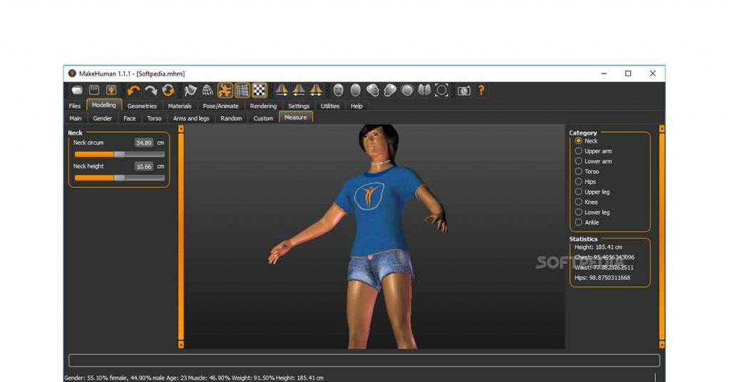 MakeHuman |  best free 3d modeling software
