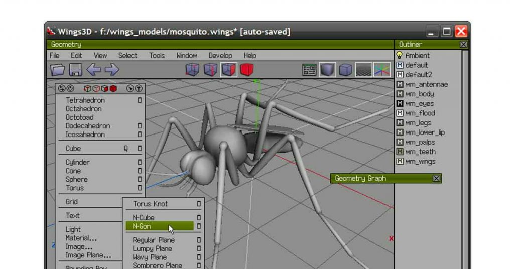 Wings 3D | best 3d modeling software for 3d printing