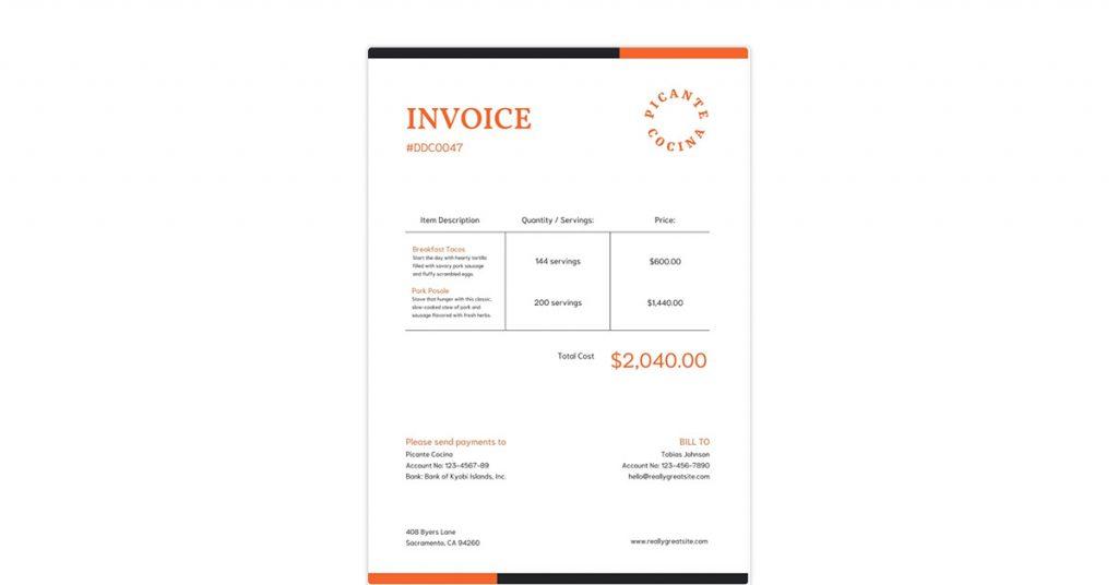Canva Invoice Template