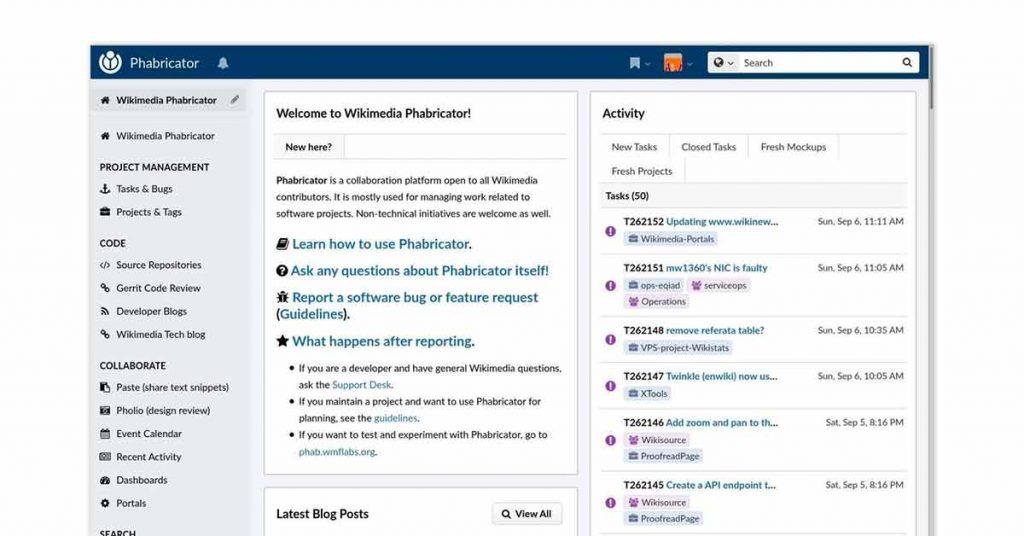 Phabricator project management solution