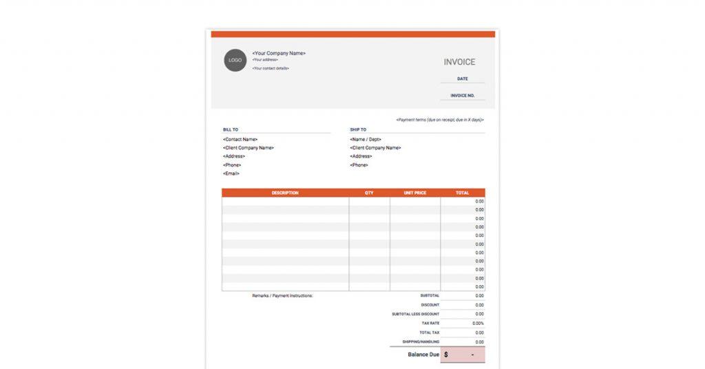 Invoice Simple Template