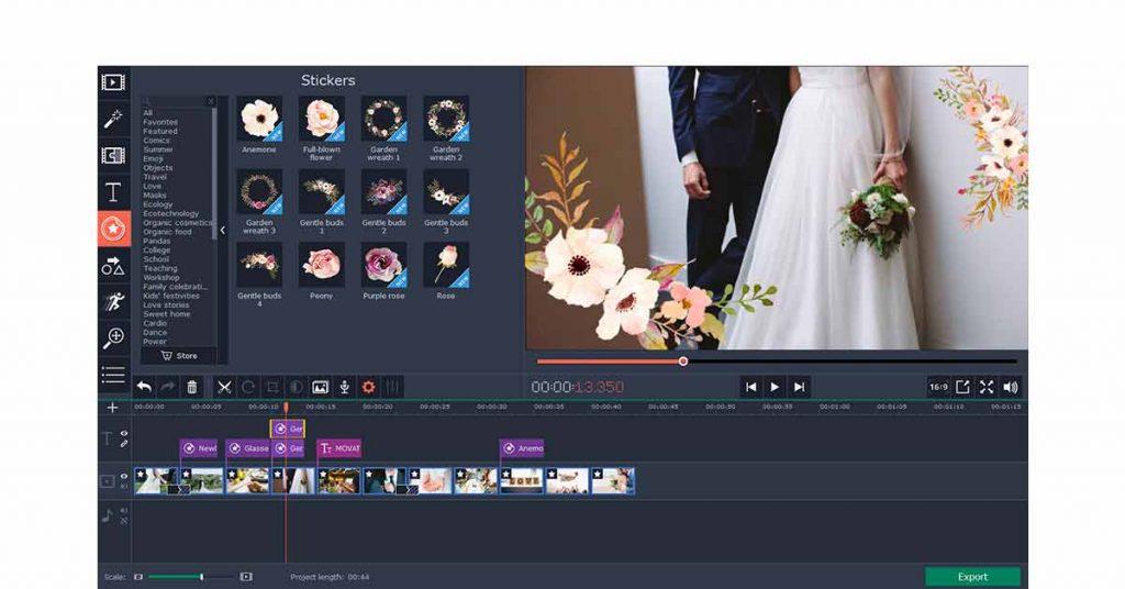 movavi video editor for wedding