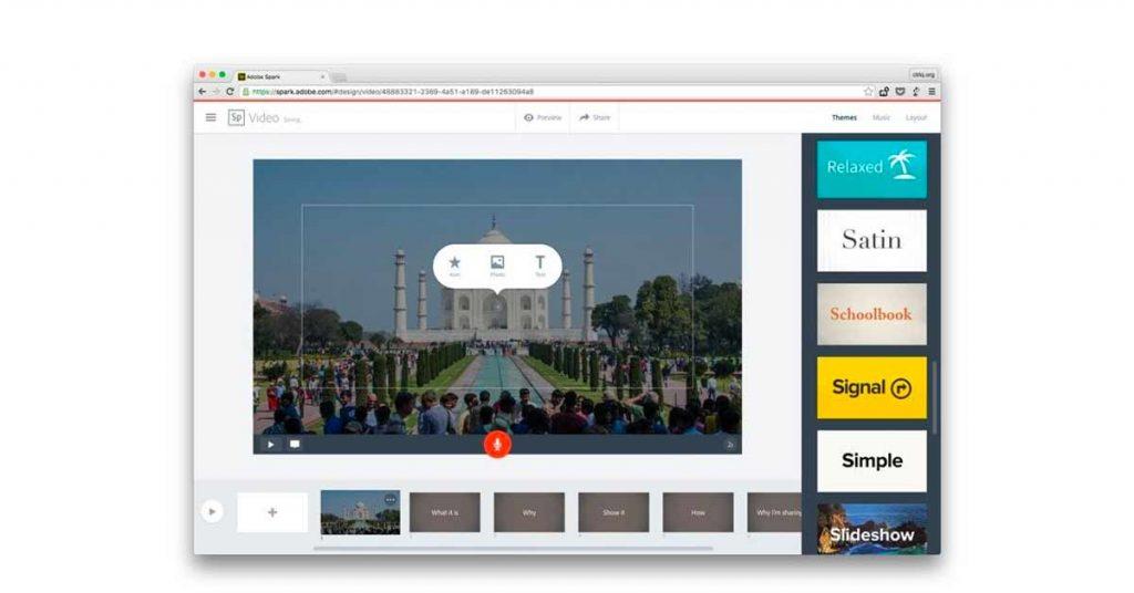 Adobe Spark online ppt creator