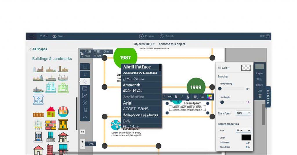 Visme presentation software example