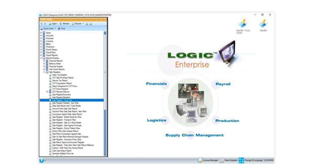 Software for shop management